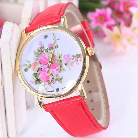 Купить розовые часы geneva
