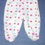 Флисовые штанишки на 0-3 месяца