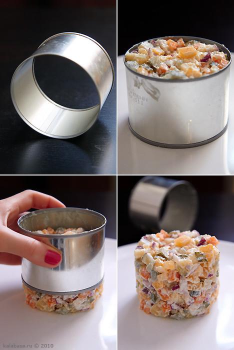 Формочки для салатов сделать своими руками