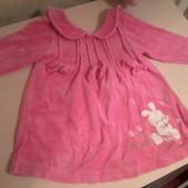 теплое платье для малышки до 14 мес.