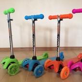 Самокат Scooter Mini от 2 до 5-6 лет, колеса светятся. 4 цвета.