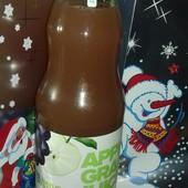 Сок яблучно-виноградный, неосветленный, пастеризованный Прямого отжима! Лот 1л (стеклянная бутылка)