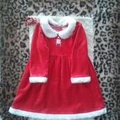 Новогоднее платьице Мисс Санта