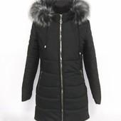 Зимняя куртка-пальто (пуховик) 42 размер