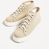 Ботинки-кеды Zara. 26 см стелька, пролет