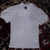 Красивая школьная блузка для девочки на рост 130-140см