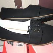 Моднячие туфли-мокасины!!!!!!уп при получении.маломерят