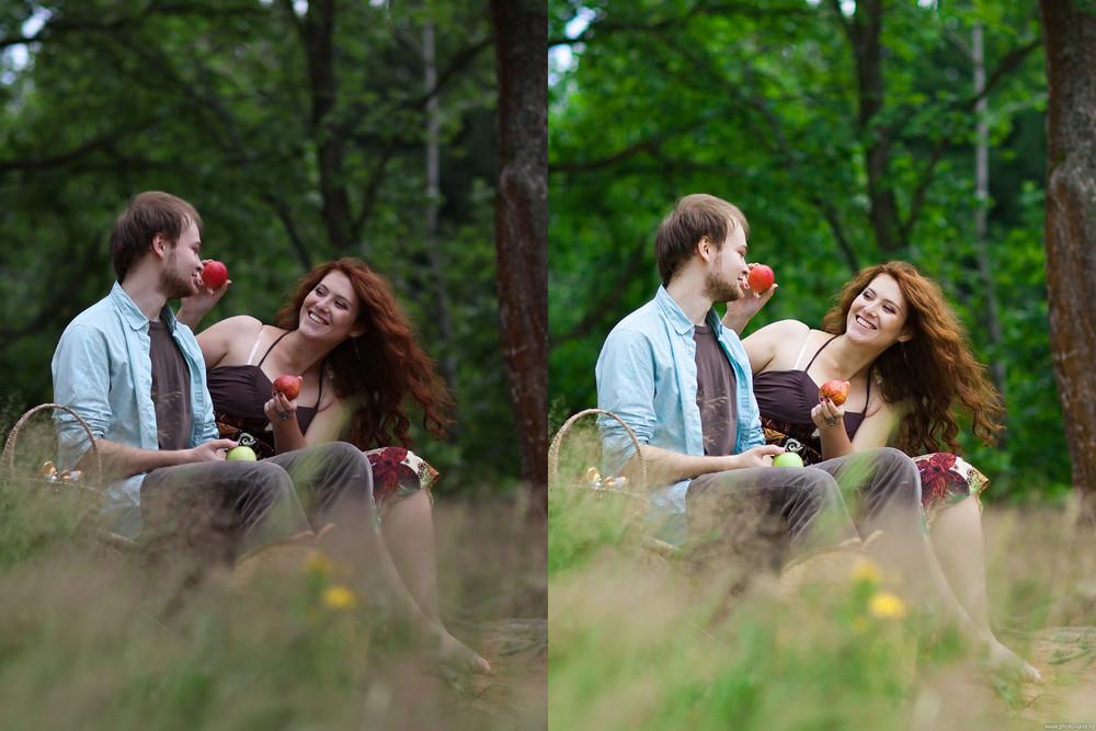 ключ обработка фото насытить зелень примеру