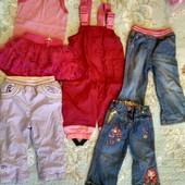 Сборний лот одежды для девочки на 1,5-2 года.рост 74.