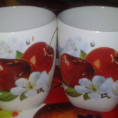 "Набор чашок ""Вишенька"""