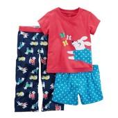 """Пижама Carter's из 3 предметов для девочки """"Веселая собачка"""""""