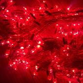 Гирлянда  красная.  Шнур прозрачный на 300 лампочек 12м и 8 режимов.Фото реальные не с интернета.