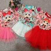 Суперские костюмы с юбкой LOL для модниц девочек-с начесом-все размеры