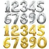 Шарики цифры фольгированные, одна на выбор, наличие в описании