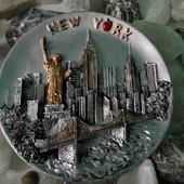 Тарелка с Нью Йорка) сувенир, керамика