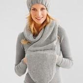 Универсальная вещь: шапка, шарф, муфта от Tchibo, Германия