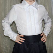 Красивая Школьная блузка для девочек, размеры 7,8,9,10,11,12 лет.Производство Узбекистан