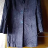 Замшевое пальтишко  размер 38 евро не секонд