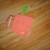 Обалденные персиковая юбка фирмы Yuke+пояс!(1-н размер,замеры в описании)Последняя в этом размере!