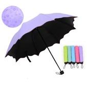 Новинка!!!Женский зонт с проявляющимся рисунком на 8 спиц,механический. Очень красивый,яркий,удобный