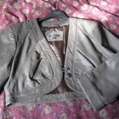 Пиджак болеро натуральная кожа 46-48р (евро 40р)