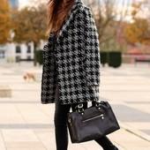 Женское пальто Old Navy сша, 32% шерсти, принт гусиные лапки, размер М. НЕ секонд!