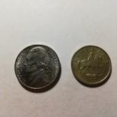 Одним лотом! Две монеты. Болгария. Америка.