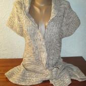 Женская теплая кофта интересного фасона Select (Селект) рр 14 !!!!!!!