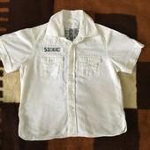 Рубашка (лён+коттон) Next на 5-6 лет.
