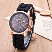 *Стильные дорогие широкие часы Geneva.