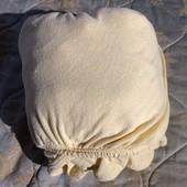 Махровая простынь на резинке 175 см на 240 см