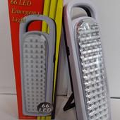 Аккумуляторный фонарь 66Led! 2 режима! Количество ограничено!