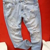 Крутые рваные мужские джинсы слим GAP 31/32 в прекрасном состоянии