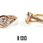 Суперове кольцо  з медичного золота позолота 585проба
