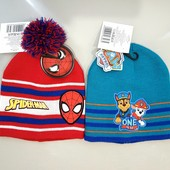 Классные двухслоевые шапочки для деток - Спайдермен, Щенячий Патруль. Шапка демисезонная!