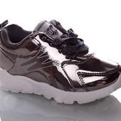 Мега крутые кроссовочки! Трендовое серебро 2 цвета р.26-31, замеры внутри!