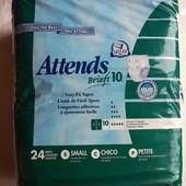 Подгузники памперсы для взрослых Attends S 24 шт Швеция. Индикатор наполнения. защита от протекания.