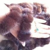 Натуральный мех!!!!  Меховый браслет, резинка для волос