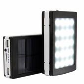 Power bank Mondax Солнечная батарея 90000мАч Внешний аккумулятор usb 2 шт, microusb цвет случайный!