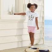 Набор футболок 2 шт размер выбор! На девочку 110-116 см и 86-92  от Lupilu.Германия.