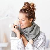 Шикарный вязаный шарф , шаль TCM Tchibo германия, размер 175 на 60 см