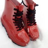 Модные резиновые ботинки 36