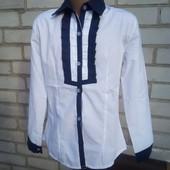 Красивая хлопковая блузка на 11 лет