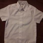 Белая рубашка BHS 5 лет - 110 см. Отл. сост.