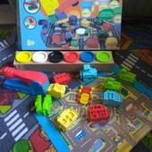 Набор для лепки транспорт аналог Play-Doh