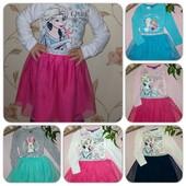Красивое платье маленьким модницам от Disney,качество супер,размер и цвет в лоте.
