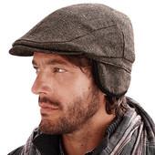 Стильная твидовая кепка коричневого цвета. ТСМ Чибо(германия) размер м = 54/56