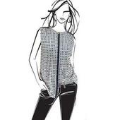 Нежная шифоновая блузка Helene Fischer от ТСМ чибо германия размер 46 евро=52-54
