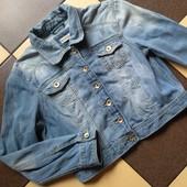 Denim плотная джинсовая винтажная куртка пог 53 см