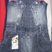 Качественный джинсовый сарафан на возраст 6-7 лет(указан 7лет) см.замеры